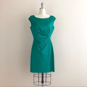 Lauren Ralph Lauren Pleated Emerald Green Dress